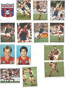 1984 Scanlens Melbourne Demons Sticker Team Set 14 stickers new out of packet