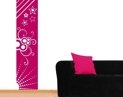 Sun, Stars and Circles Decorative Strip - highest quality wall decal stickers