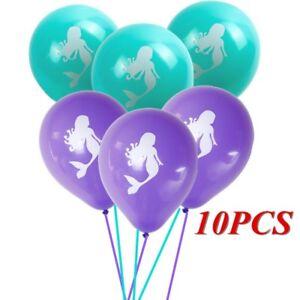 10pcs Mermaid Latex Balloons Birthday Wedding Baby Shower Pool Party Decor  IJ