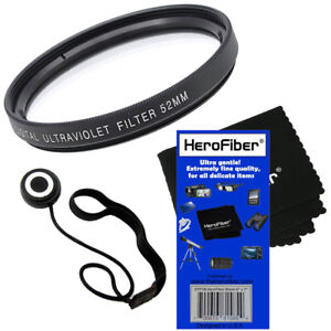 NEW-52mm-Multi-Coated-UV-Filter-Lens-Cap-Keeper-amp-Cleaning-Cloth