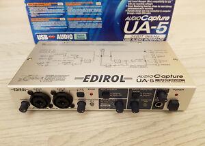 EDIROL-ROLAND-Capture-UA-5-USB-Audio-Interface-24bit-96hz-Sound-Card-Boxed-PSU
