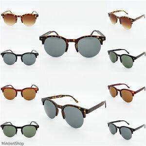 ANOS-80-browline-INDIE-elegante-vintage-redondas-Montura-Media-Gafas-de-sol-moda