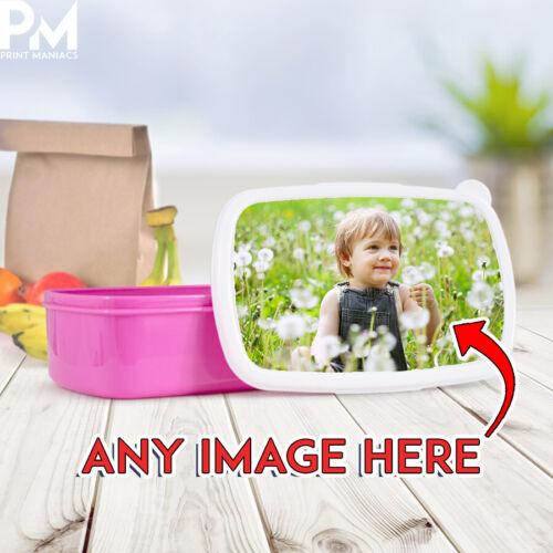 Personnalisée Photo Boîte Déjeuner Sac-Idéal pour l/'école toute photographie Enfants Dîner