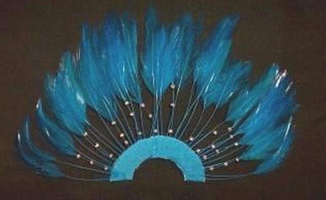 US Seller 1 Navy Blue 1//2 Circle Pinwheel Hackle Feathers