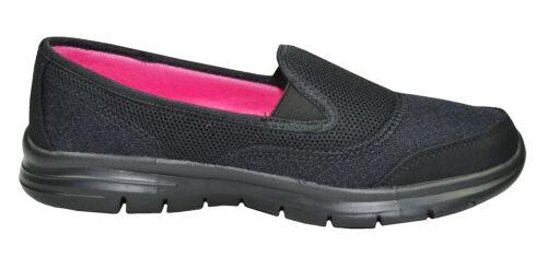 Ladies Women Super Lightweight Twin Elastic Gusset Leisure Shoes uk Size 3-9