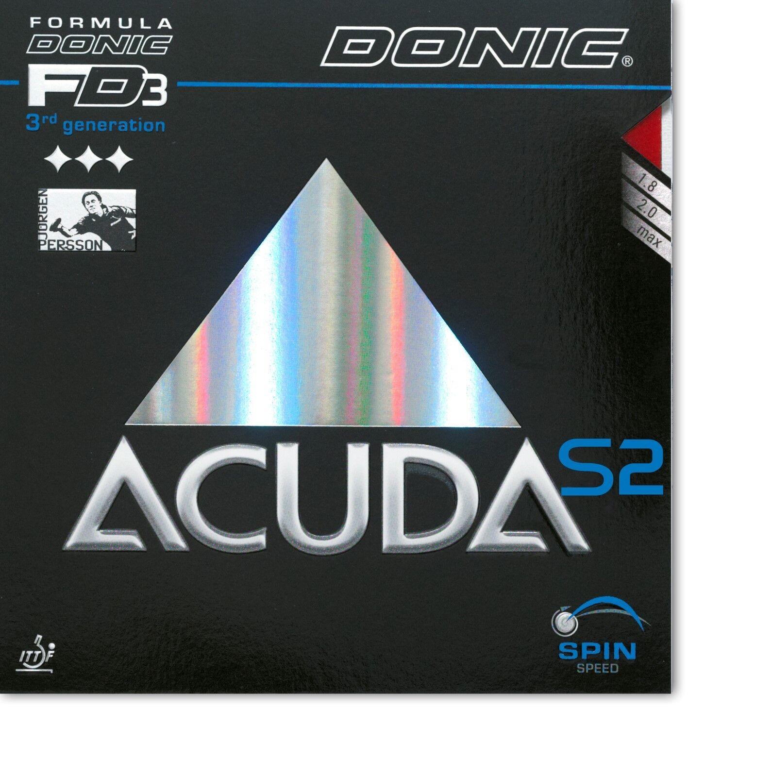 DONIC DONIC DONIC Acuda S2 2,0mm rot  NEU   OVP    Maßstab ist der Grundstein, Qualität ist Säulenbalken, Preis ist Leiter    Das hochwertigste Material    Erschwinglich  66ce65