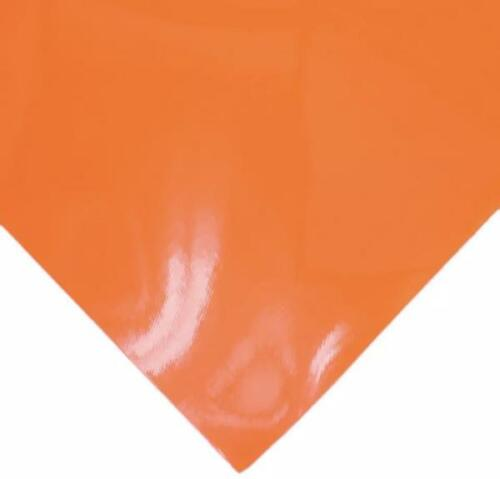 Orange shiny pleather solid faux leather sheet vinyl fabric full or 1//2 sheet