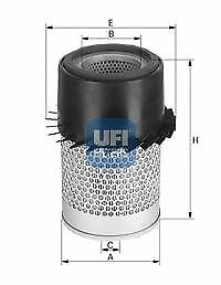 Filtro aria UFI 27.924.00