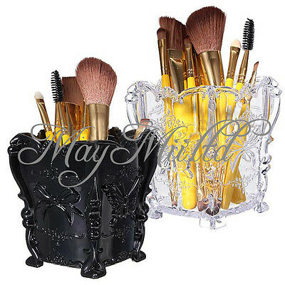 New Makeup Cosmetic Storage Box Case Holder Brush Pen Organizer Acrylic TL
