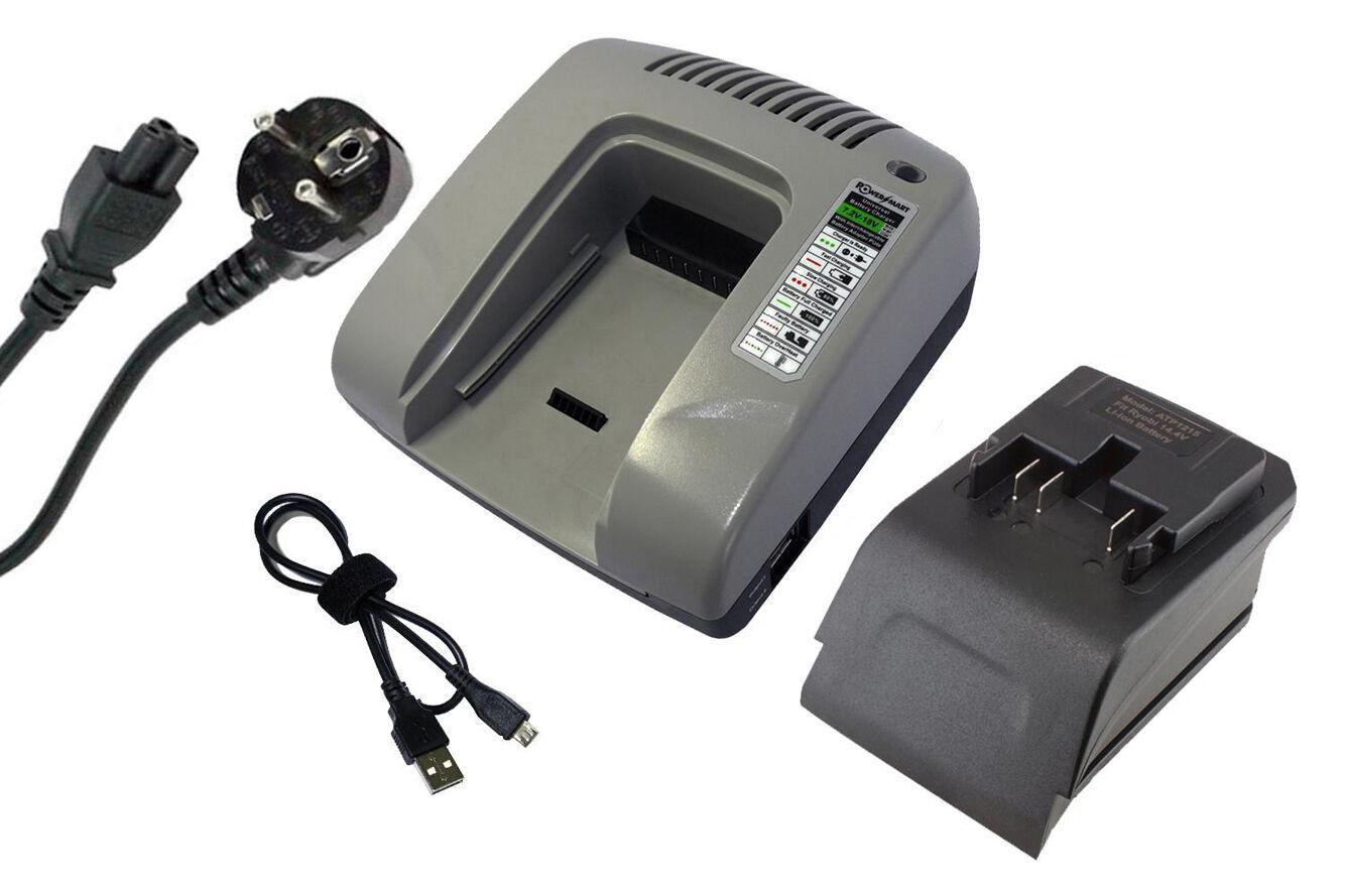 PowerSmart 14,40V Ladegerät für Ryobi B-1415L B-1430L BDM-143 BID-140 BID-1411