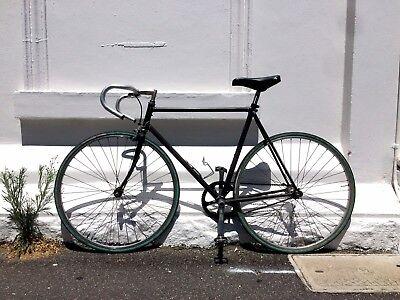 VINTAGE SINGLE SPEED BIKE - Matte Black - Stripped Back - Light Weight Bicycle