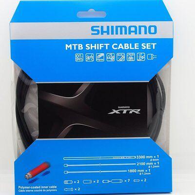 Shimano XTR M9000 Polymer Coated Shifter Cable /& Housing Set Black Bike