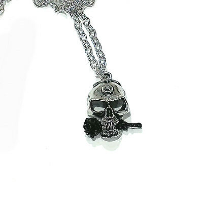 Alchemy Gothic Pewter necklace 21 inch chain skull and rose 'the alchemist'