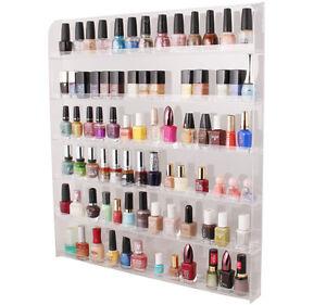 Acrylic Clear Cosmetic Nail Polish Display Wall Hang Rack