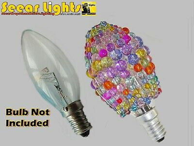 LIGHT BULB COVER CHANDELIER GLASS BEAD LAMP ART DECO CANDLE