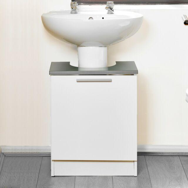 Amazing Tamar Under Sink White Grey Vanity Unit Wooden Storage Cabinet Bathroom Cupboard Download Free Architecture Designs Meptaeticmadebymaigaardcom