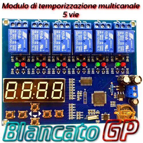 Modulo di temporizzazione multicanale con 5 uscite timer digitale programmabile