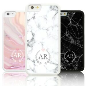 more photos 8f66b 17149 Details about Personalised Silicone MARBLE INITIALS Case Cover for Apple  IPHONE custom initial