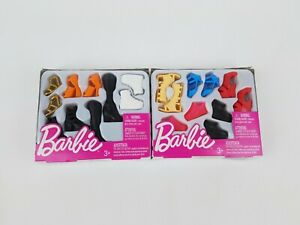2018 Barbie Fashion Accessory Shoe Pack, Tall & Curvy Petite lot of 2