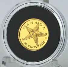"""2013 - Starfish 1/25 troy oz. Pure Gold Coin - 1st in New """"Sea Creatures"""" Series"""