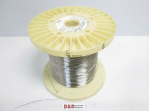 "Fort Wayne Metals 304V Stainless Steel Wire 0.0025/"" Diameter Approx 62,400 FT."
