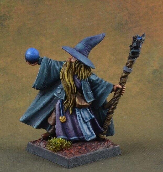 Galladon Greycloak, Wizard from Reaper Miniatures, D&D mage