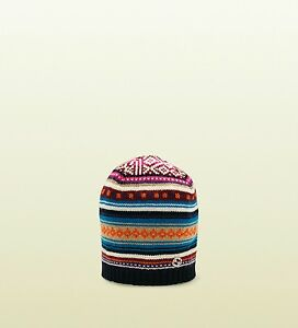 2435f36d578 Image is loading NWT-NEW-Gucci-girls-multi-color-intarsia-wool-