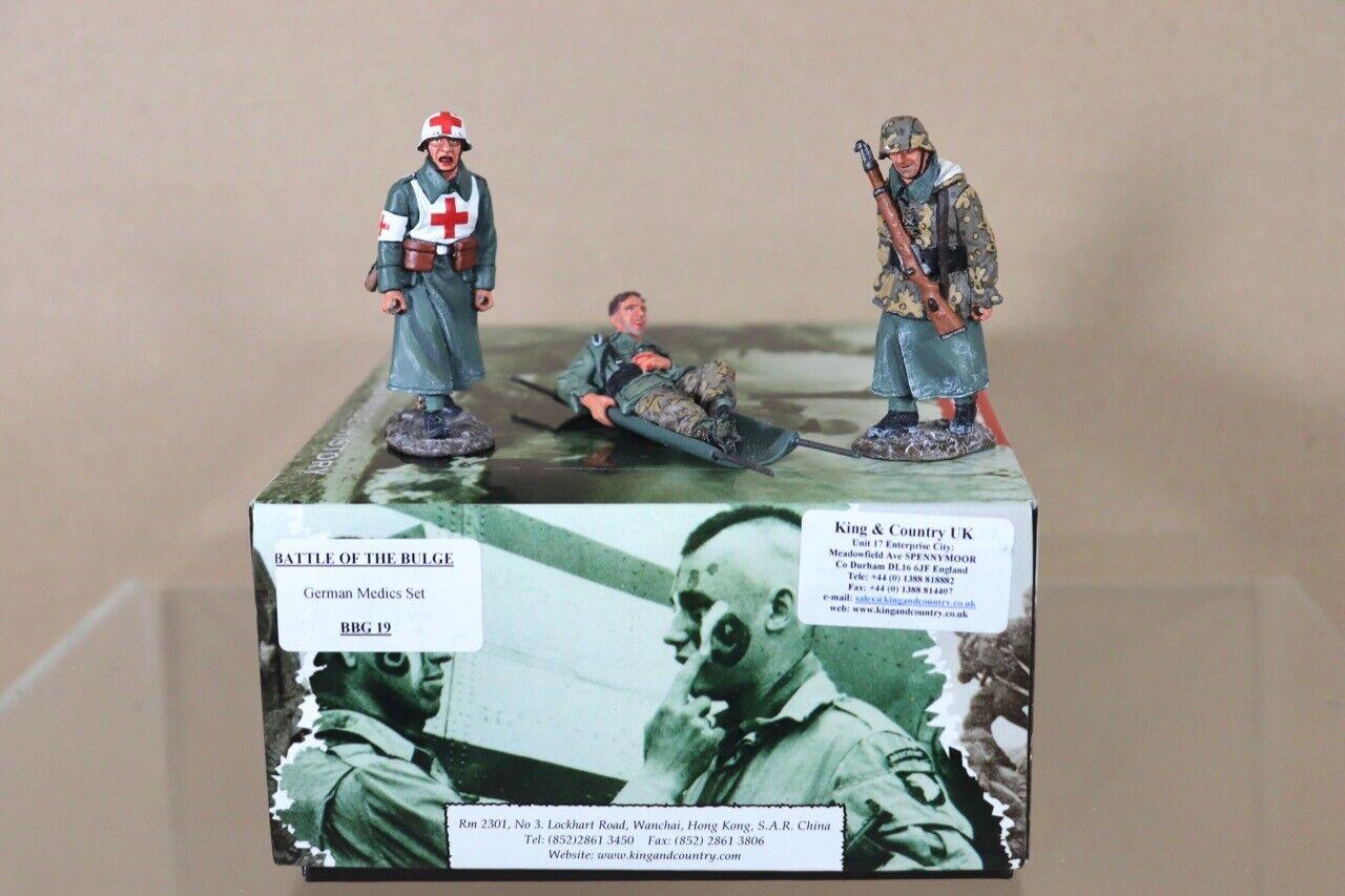 KING & COUNTRY BBG019 BATTLE of the the BULGE GERMAN SOLDIER MEDICS SET nu
