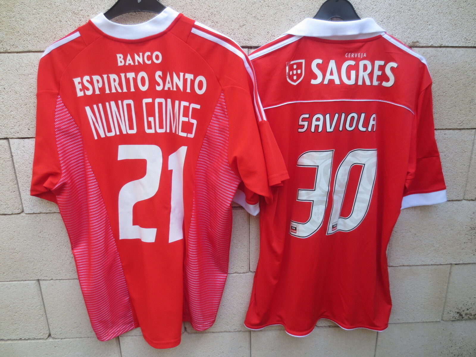 Lot 2 Maillot BENFICA jersey shirt ADIDAS NUNOS GOMES SApurple Lisbonne football