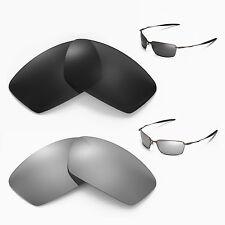 New Walleva Polarized Black + Titanium Lenses For Oakley Square Whisker