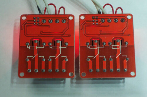 2 PCS 12 VDC @10 AMP 2-CHANNEL HIGH USA LOW LEVEL INPUT RELAY BOARDS