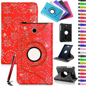 New-Diamond-Leather-Rotate-Case-Cover-Pouch-For-Samsung-Tab-3-7-Inch-10-1-Inch