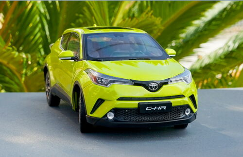 1//18 Scale Toyota C-HR CHR Yellow Diecast Car Model Toy Collection Gift NIB