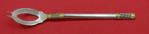 """Aegean Weave Gold By Wallace Sterling Silver Olive Spoon Ideal 6 3//8/"""" Custom"""