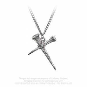 ALCHEMY-ENGLAND-Gothic-Steampunk-Cross-Pendant-Chain-NECKLACE-Resurrection