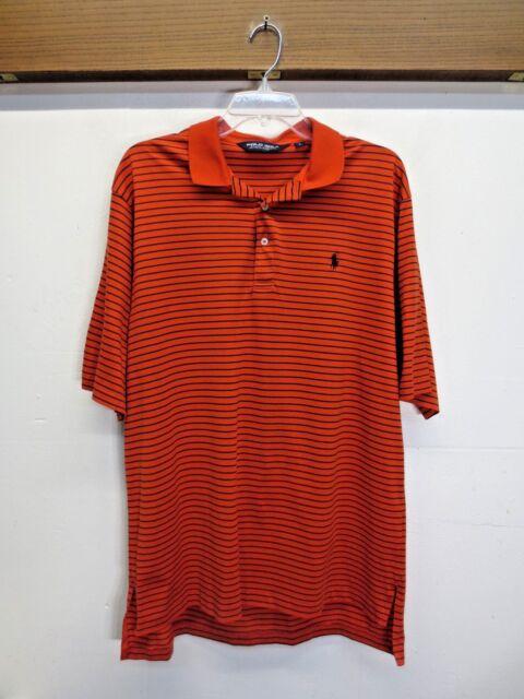 6a9d175b1e8 EUC Mens Polo Golf Ralph Lauren Shirt Red Blue Stripe 100% Pima Cotton Size  L