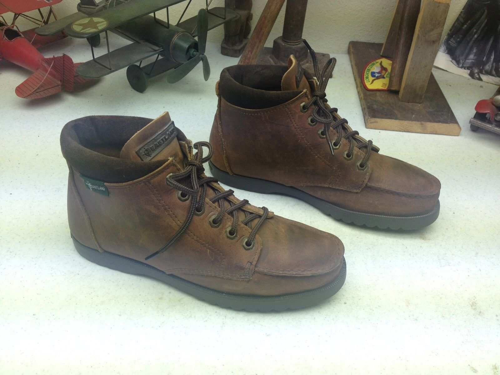 EASTLAND LACE UP UP UP MADE USA VINTAGE braun LEATHER RUSTIC TRAIL HIKE BOSS Stiefel 9 D b0b54c
