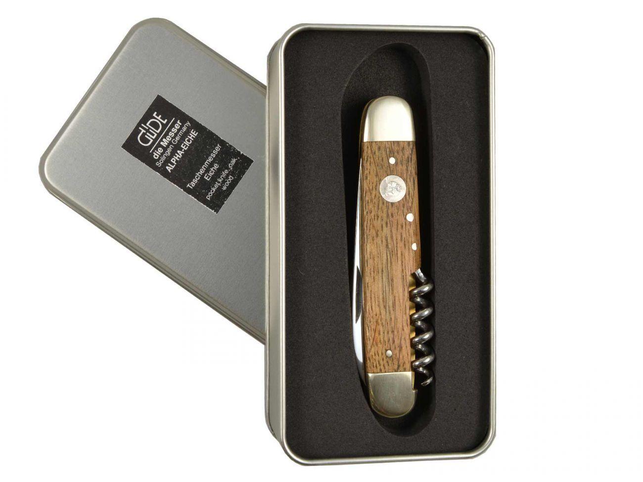 Güde Alpha faßeiche couteau de de de poche couteau pliant avec pitchgabel e725/07 bois de chêne c2c620