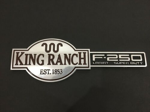 NEW OEM KING RANCH TAILGATE EMBLEM BADGE 2003-2007 F-250 SUPER DUTY