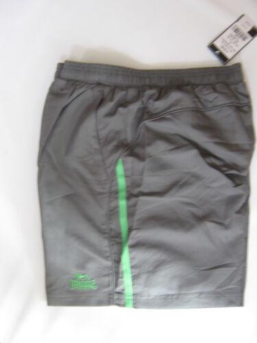 LONSDALE short Gris Vert Bordure Poches Zippées Taille S XL