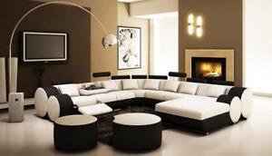 Design Canapé en Cuir XXL Grand Intérieur de la Maison Canapé-lit ...