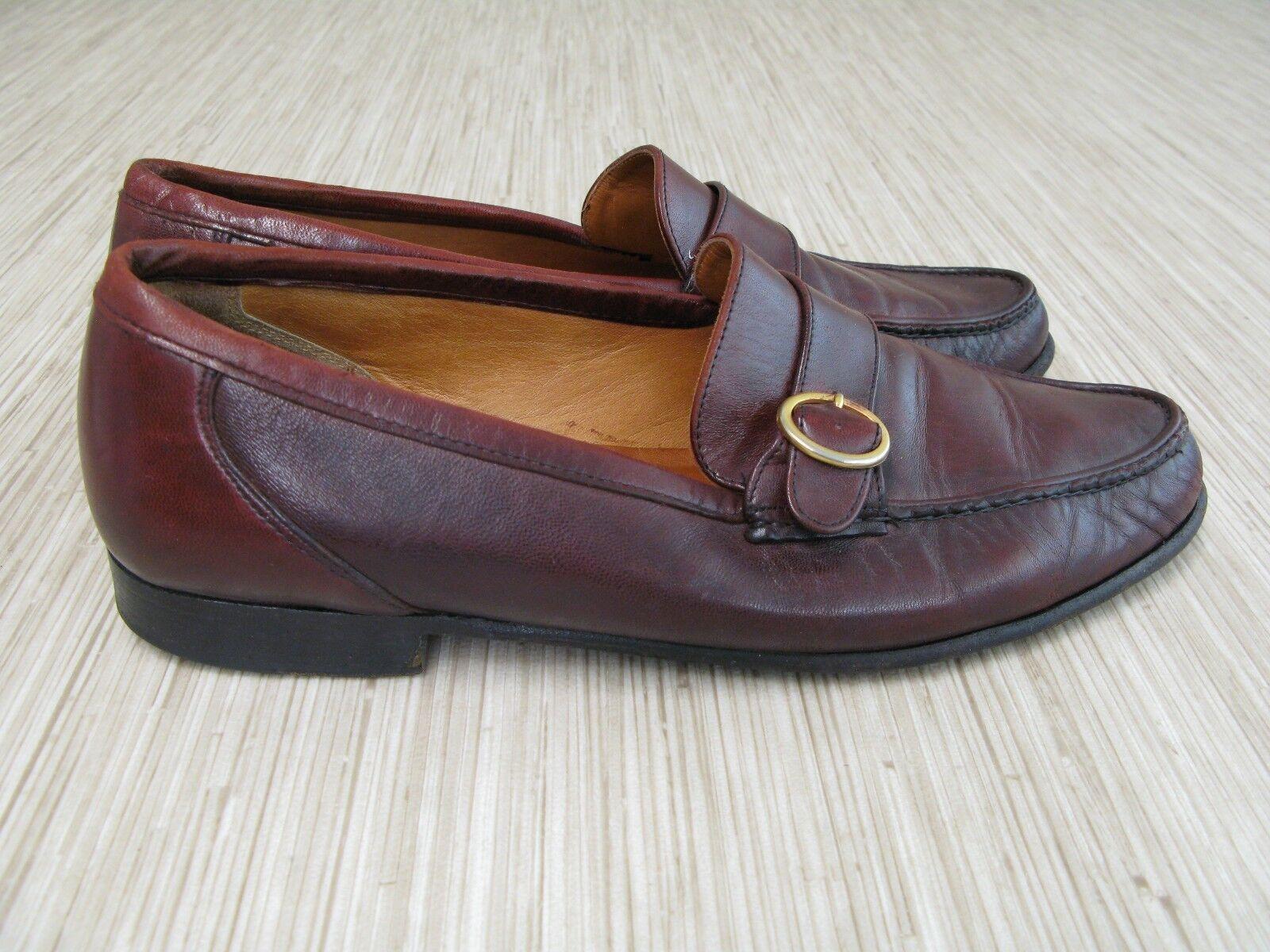 Allen Edmonds Rossano Estilo Zapatos UU. para hombre EE. UU. Zapatos 9.5 Cuero Marrón Mocasines monje Vestido 0eb322