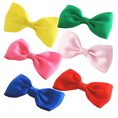 """4/"""" Inch Gingham Back To School Hair Bow With Alligator Clip Slide UK Stock"""