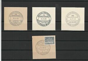 German Shipspost Stamps Cancels on Piece Ref 23880