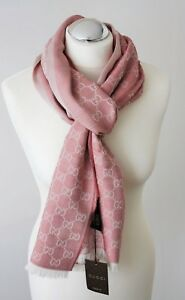 1f95e18d23f6 Image is loading Gucci-282390-Scarf-Gg-Pattern-27-5-8x76-