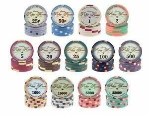 VALENTINO-POKER-CHIPS-CERAMIC-CASINO-SUNFLY-CASH-TOURNAMENT