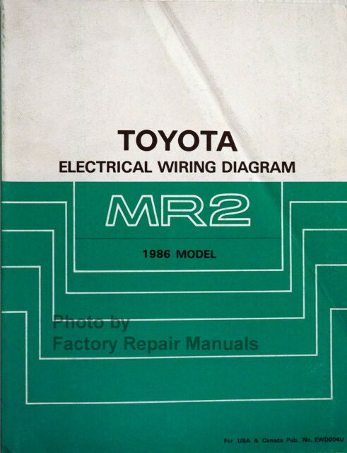 1986 Toyota Mr2 Electrical Wiring Diagrams Original
