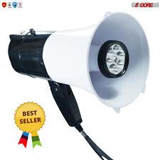 Megaphone Handheld With Led Lights Bullhorn Cheer Loudspeaker Bull Horn Speaker