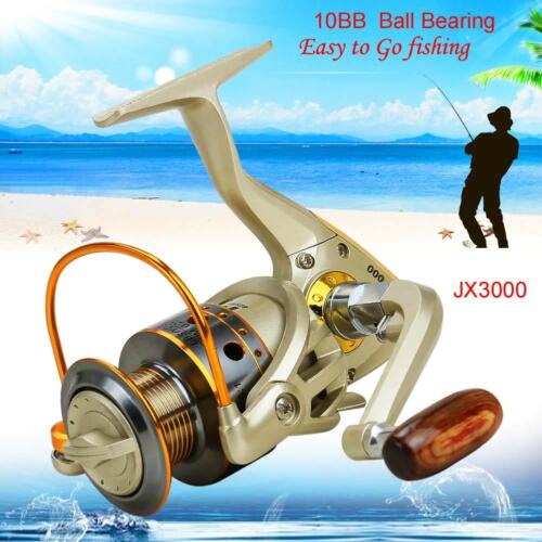 10 BB Left//Right Interchangeable Collapsible Handle Fishing Spinning Reel Speed