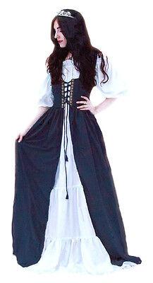 Renaissance Medieval Irish Costume Over Dress Fitted Bodice XXS XS S M L XL 2X 3